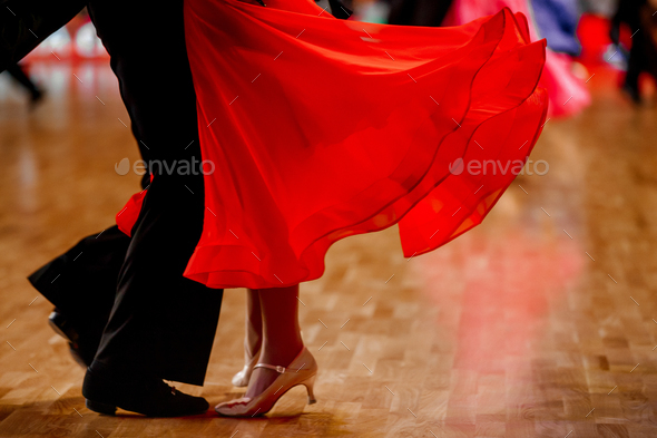 sports pair dancers  - Stock Photo - Images