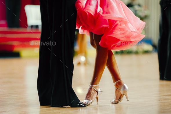 woman and man latino dancing - Stock Photo - Images