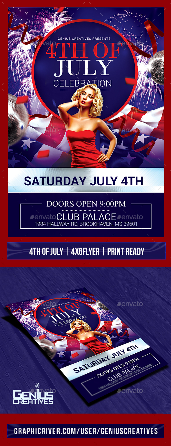 4th Of July Flyer Celebration Template - Holidays Events