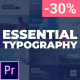Free Download Essential Typography Pack - For Premiere Pro Nulled