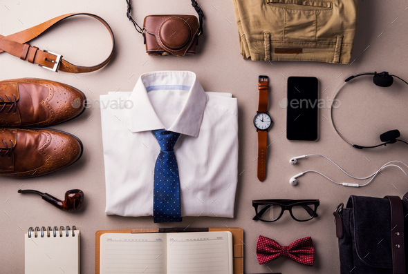 Fathers day greeting card concept. Flat lay. - Stock Photo - Images