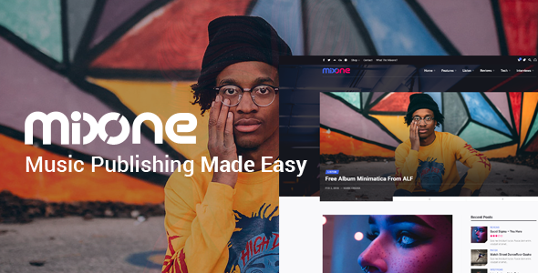 Image of Mixone -  WordPress Music Magazine With Continuous Music Playback