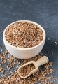 A Wooden Bowl of Linseed - PhotoDune Item for Sale