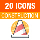 Construction and Tools Icons - GraphicRiver Item for Sale