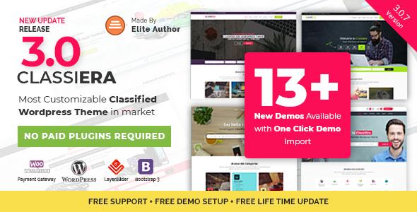 Classiera – Classified Ads WordPress Theme - Directory & Listings Corporate