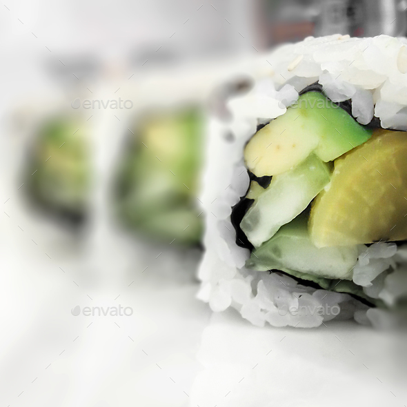 Vegan sushi - Stock Photo - Images