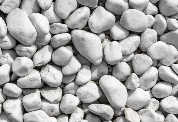 White pebbles background - Stock Photo - Images