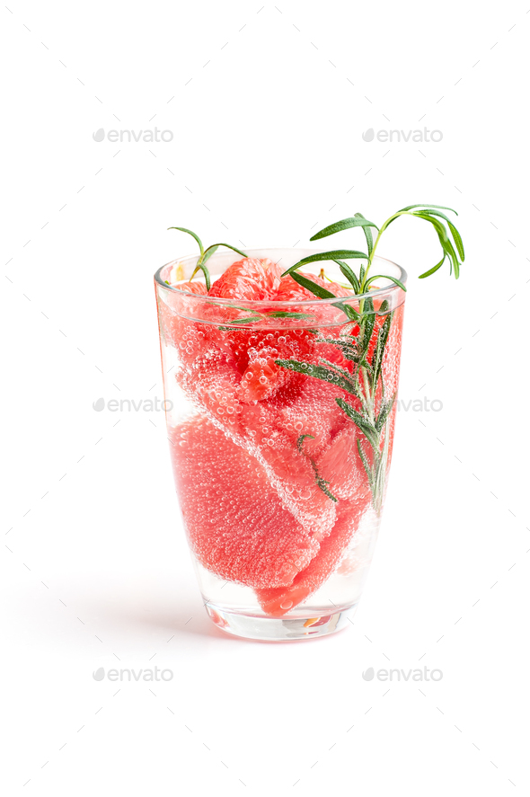Lemonade with grapefruit and rosemary. - Stock Photo - Images