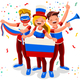 Russian Football Team Flag - GraphicRiver Item for Sale