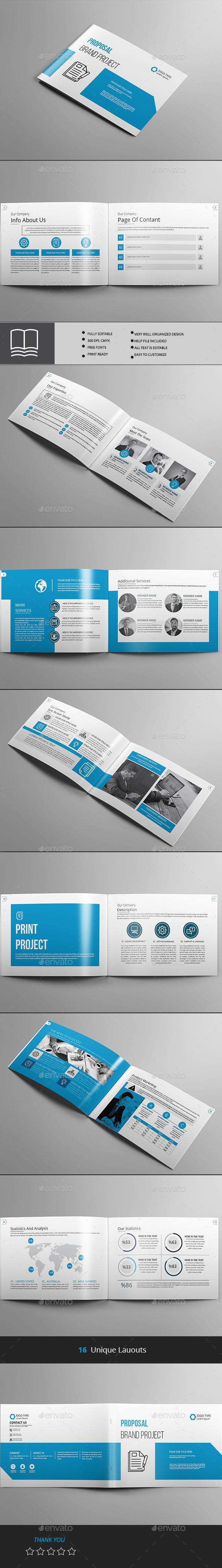 Proposal LandScape - Brochures Print Templates