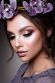 Beautiful Girl with Flowers. - PhotoDune Item for Sale