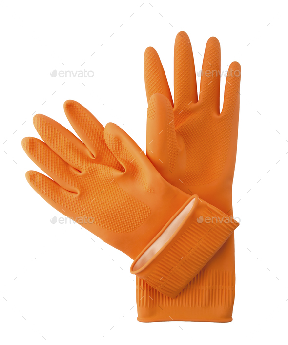 Household gloves. - Stock Photo - Images