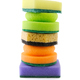 Stack of various sponges for washing dishes. - PhotoDune Item for Sale