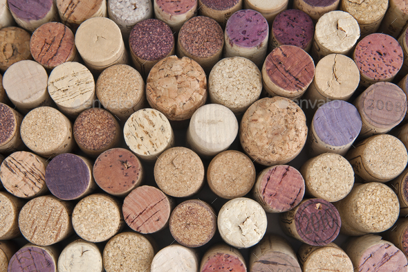 Wine corks. Background. - Stock Photo - Images