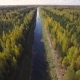 Aerial View of the River in the Autumn Forest - VideoHive Item for Sale