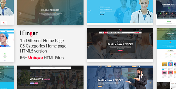 I-finger || Multipurpose Bootstrap4 Template - Corporate Site Templates