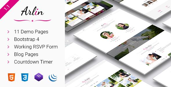 Image of Arlin – Responsive HTML5 Wedding Template