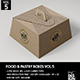 Food Pastry Boxes Vol.5: Kraft Carrier Boxes | Take Out Packaging Mock Ups - GraphicRiver Item for Sale