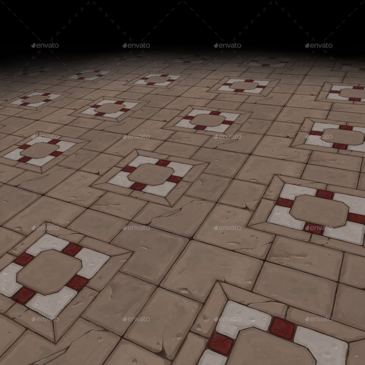 Medieval floor Tile 2 (hand painted)