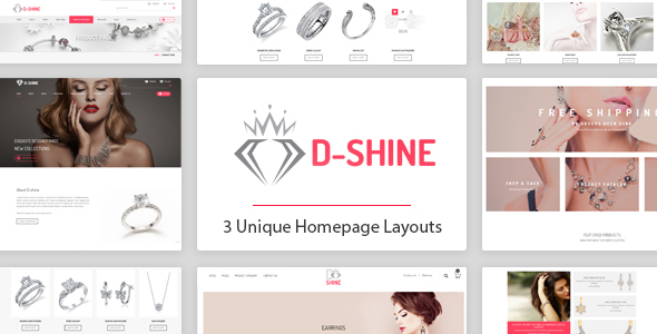 D-shine - Diamond Jewelry HTML template - Retail Site Templates