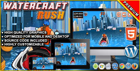 Watercraft Rush - HTML5 Racing Game            Nulled