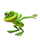 3D Illustration of a Frog Preparing for a Leap - GraphicRiver Item for Sale