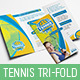 Tennis Tri-Fold Brochure Template