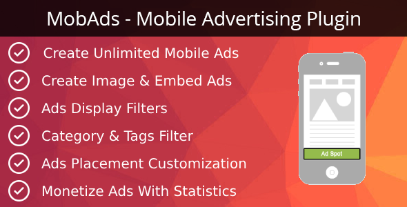 MobAds - Mobile Advertising Plugin - CodeCanyon Item for Sale