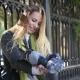 Beautiful Girl Feeding Pigeons - VideoHive Item for Sale