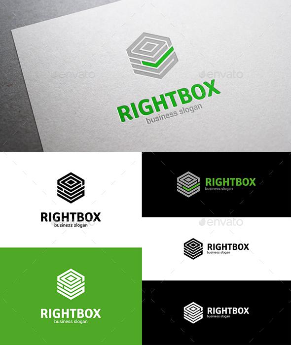 Right Box Logo - Vector Abstract