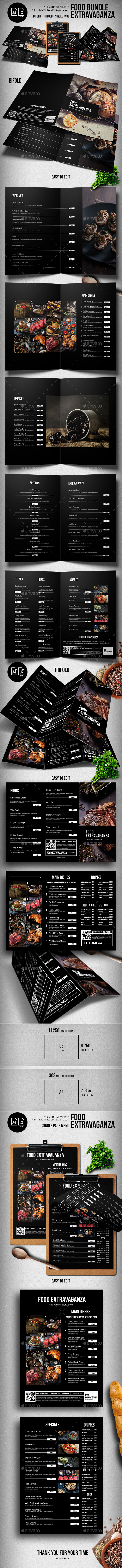Multipurpose Extravaganza Food Menu Big Bundle - Food Menus Print Templates