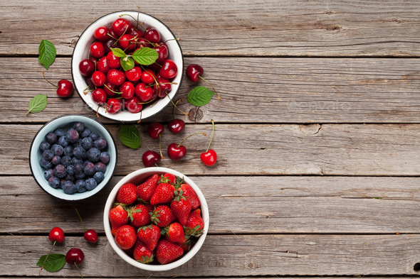 Fresh summer berries - Stock Photo - Images