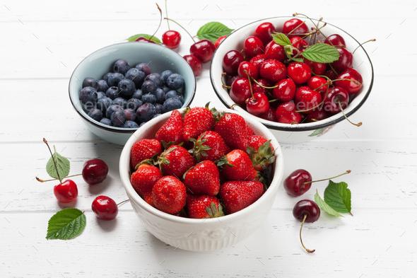 Fresh summer berries - Stock Photo - Images
