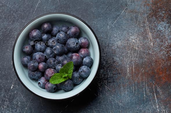 Fresh summer blueberry - Stock Photo - Images