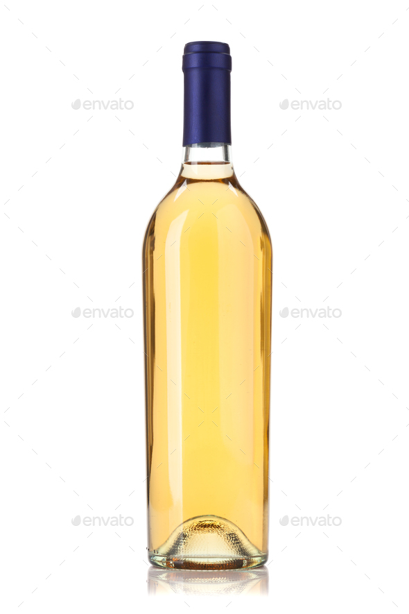 White wine bottle - Stock Photo - Images
