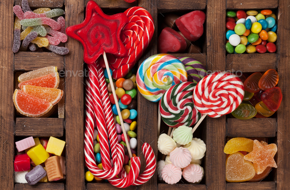 Colorful sweets box - Stock Photo - Images