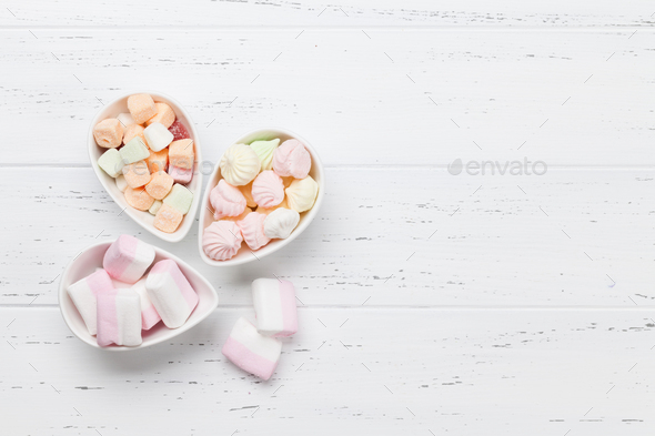 Pastel colored sweets - Stock Photo - Images