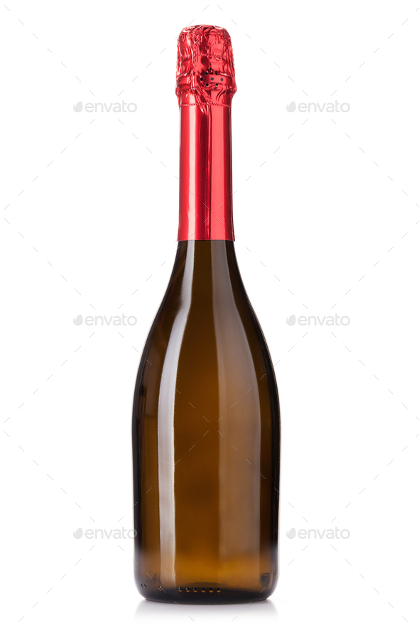 Champagne wine bottle - Stock Photo - Images
