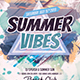 Summer Vibes Dj Flyer - GraphicRiver Item for Sale