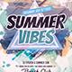 Summer Vibes Dj Flyer