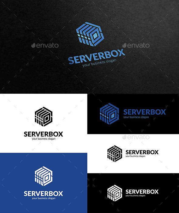 Server Box Logo - Vector Abstract