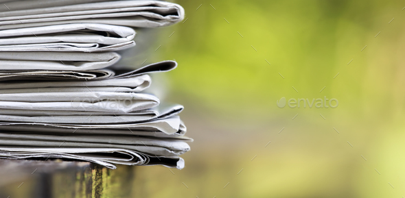 Stack of newspapers - Stock Photo - Images