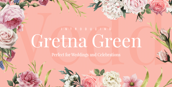 Gretna Green - Theme for Wedding Planners and Celebrations - Wedding WordPress