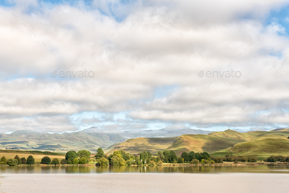 Lake Curragh between Underberg and Kokstad - Stock Photo - Images