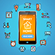 Smart Home Concept with Realistic Detailed Phone - GraphicRiver Item for Sale