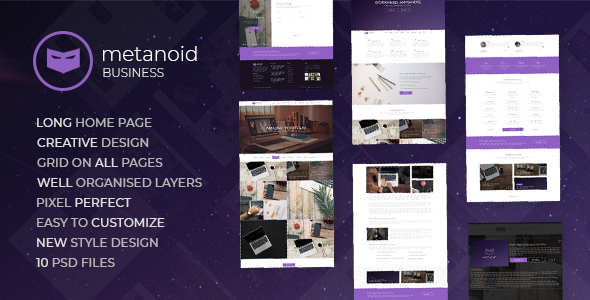 Metanoid | Business PSD Template