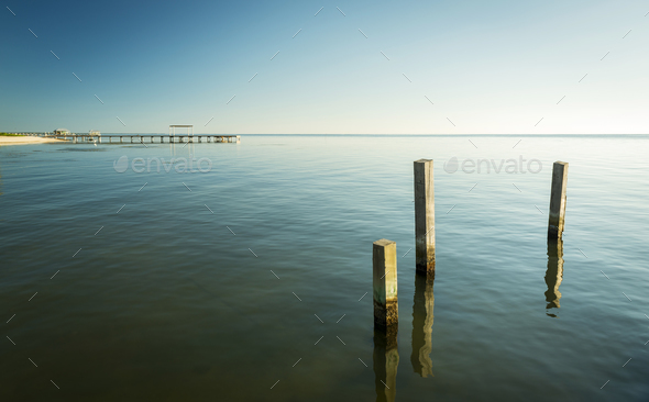 Minimalist Ocean Landscape - Stock Photo - Images