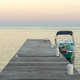 Boat And Jetty At Sunrise - PhotoDune Item for Sale