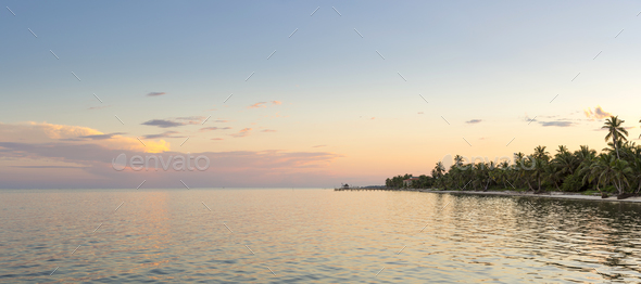 Ambergris Caye Belize Panorama - Stock Photo - Images