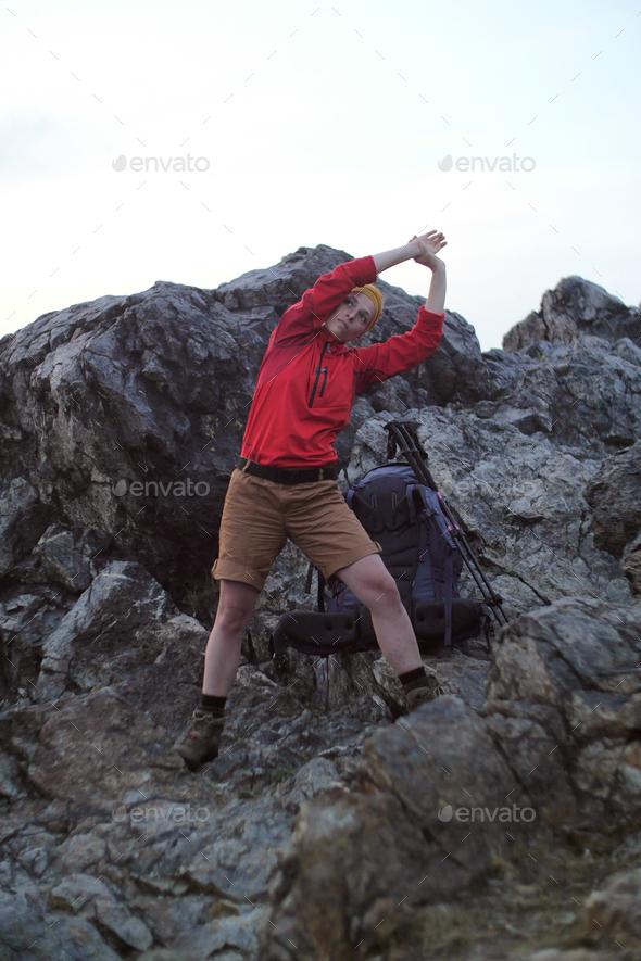 alpine stretch - Stock Photo - Images
